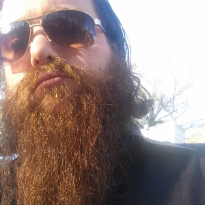 bearded man with sunglasses
