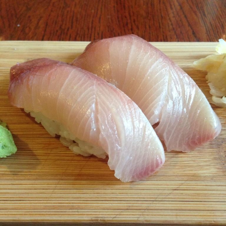 nigiri sushi is great for eating if you have a beard