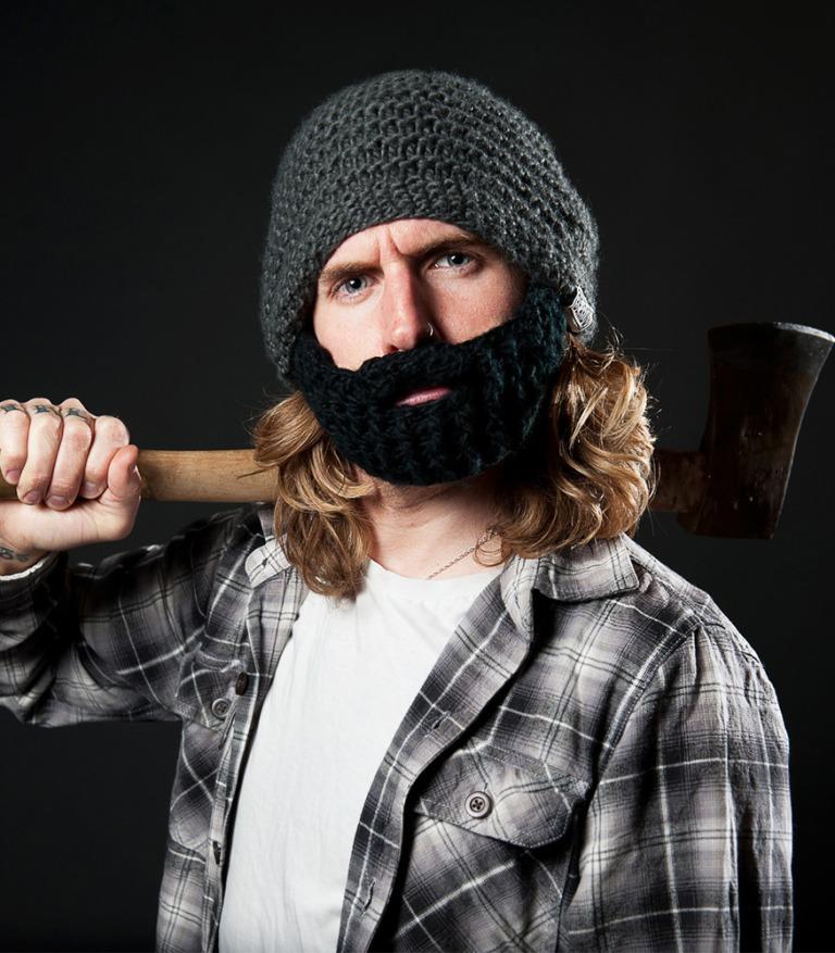 beardo knit beard hat
