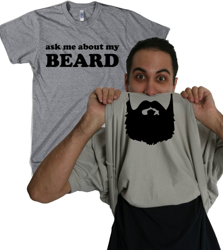ask me about my beard t-shirt