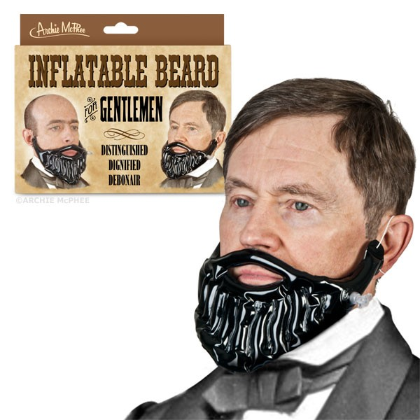 inflatable beard archie mcphee