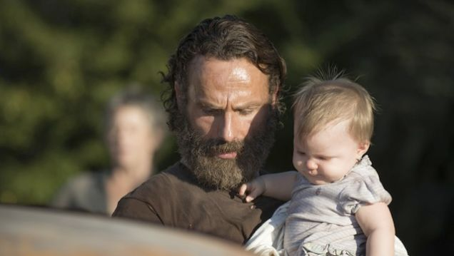 rick grimes and baby