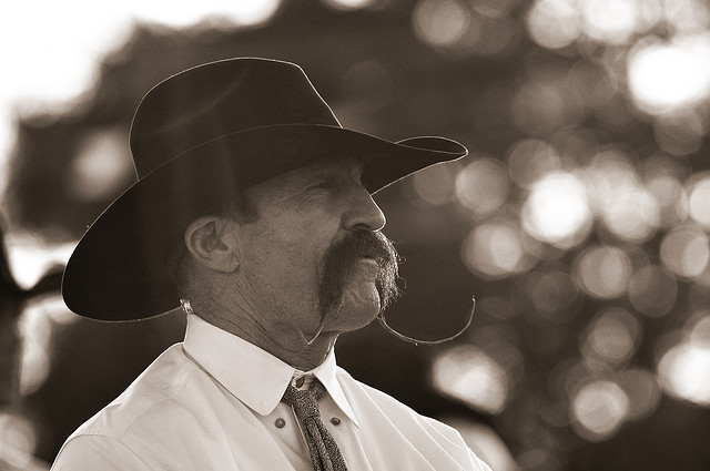 cowboy handlebar mustache